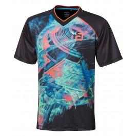 Andro T-Shirt Hayton Noir/coral