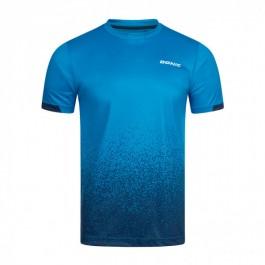 Donic T-Shirt Split cyan/navy