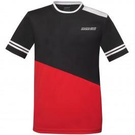 Donic T-shirt Static Noir/rouge