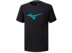 "Voir Table Tennis Clothing Mizuno T-shirt Heritage Tee ""2"" Noir"