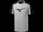 "Voir Table Tennis Clothing Mizuno T-shirt Heritage Tee ""2"" grey"