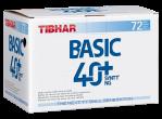 Voir Table Tennis Balls Tibhar Basic 40+ SYNTT NG (seam) 72 pcs