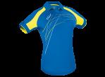 Voir Table Tennis Clothing Tibhar Shirt Grip Lady blue/yellow