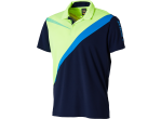 Voir Table Tennis Clothing Xiom Chemisette Jake Navy/lime