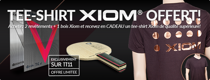 Recevez un tee-shirt Xiom GRATUIT!